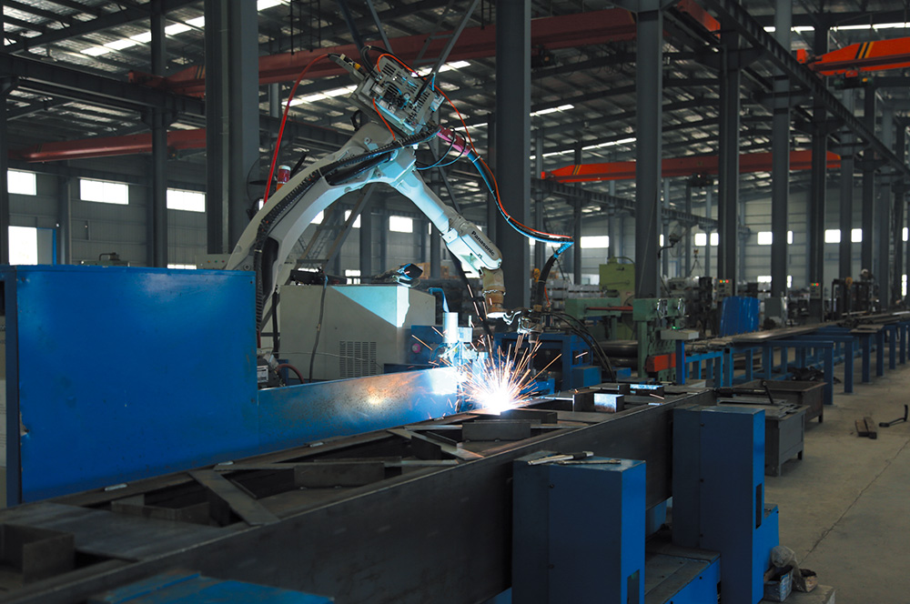 TA/400型机器人焊接生产线